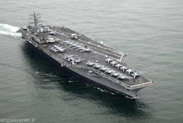 """روز گذشته  ناو """" یو اس . اس جان استنیس """" آمریکا وارد خلیج فارس شد ."""