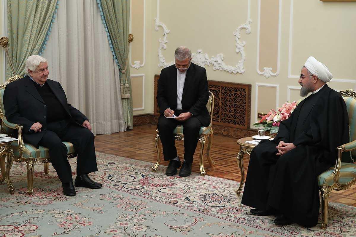 """"""" حسن روحانی """" : تردیدی نداریم که پیروزی شما در برابر یک توطئه بزرگ در این منطقه به سرکردگی آمریکا و … ، پیروزی بزرگی برای ملت سوریه و کل منطقه است."""