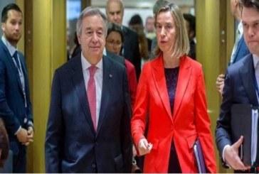دیدار موگرینی و گوترش با محوریت ایران