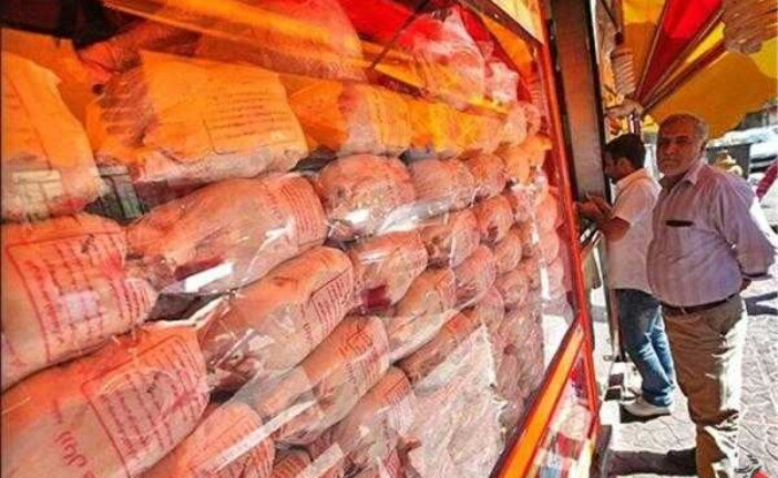 افت ۲۰۰ تومانی نرخ مرغ در بازار/ قیمت مرغ به ۱۳ هزار تومان رسید .
