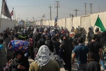 بالغ بر یک میلیون زائر از مرزهای خوزستان به کربلا مشرف شدهاند