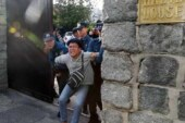 تظاهرات ضدآمریکایی در کره جنوبی /ورود معترضان به محل اقامت سفیر آمریکا