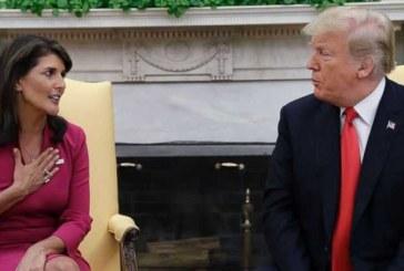 """"""" هیلی """" استیضاح ترامپ را به حکم اعدام تشبیه کرد"""