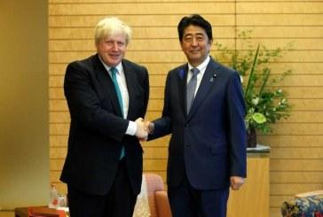 نخستوزیران انگلیس و ژاپن پس از سفر روحانی گفت وگو کردند