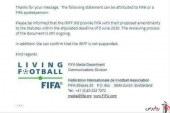 خبر مهم در یک نامه رسمی فیفا : فوتبال ایران تعلیق نمی شود