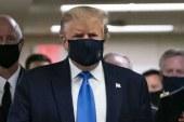 ترامپ هم بالاخره ماسک زد