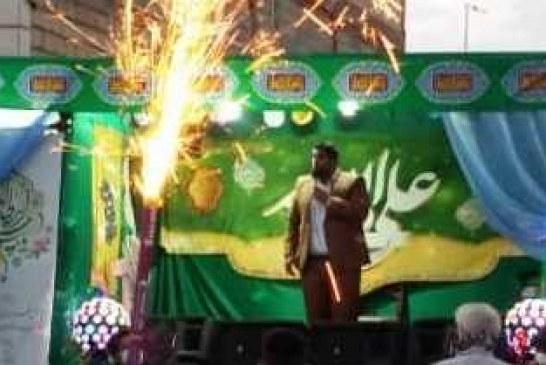 غوغای « کاروان شادی عید غدیر در شهر « قلعه نو » از توابع شهرستان ری