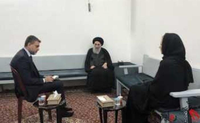 بیانیه دفتر آیت الله سیستانی در باره دیدار ایشان با نماینده سازمان ملل