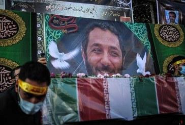 مراسم تشییع جنازه شهید امر به معروف شهید محمد محمدی