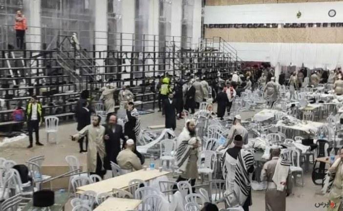 ۱۵۰ صهیونیست بر اثر ریزش سکو یک کنیسه زخمی شدند