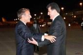 رئیس جمهوری فرانسه به اربیل سفر کرد